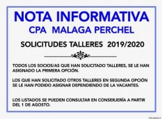 Solicitud Talleres 2019 - 2020